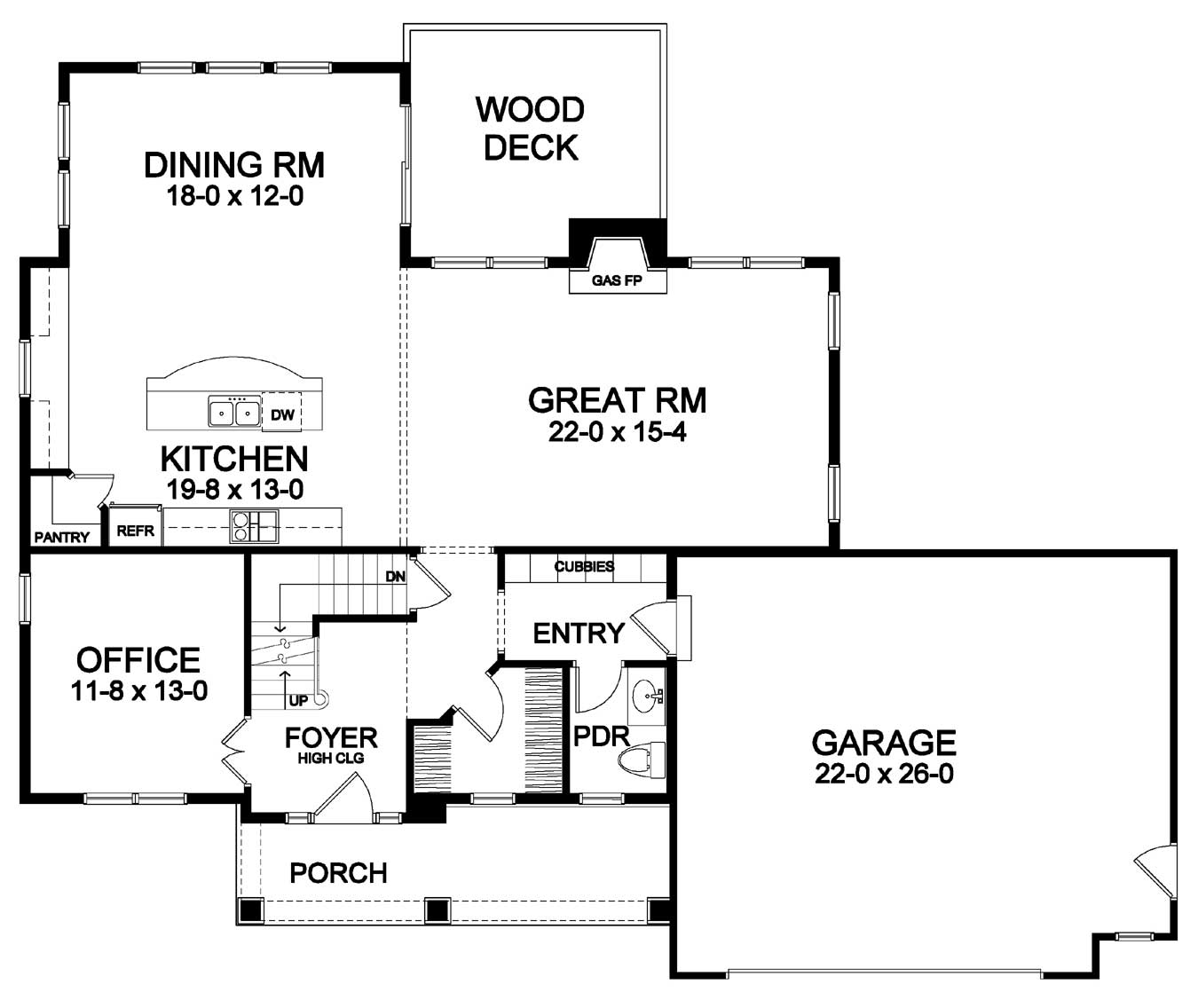 open first floor plan